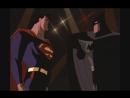 Бэтмен против Супермена - сцена из мф Супермен и Бэтмен (1997го)