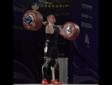 Ihor Konotop (-85kg, Ukraine) clean and jerking 189kg/417lb at the 2016 Europeans.