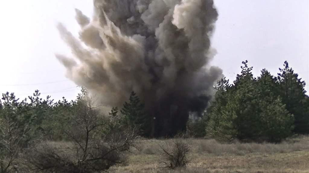 Под Таганрогом найдена противотанковая мина, выставлено оцепление
