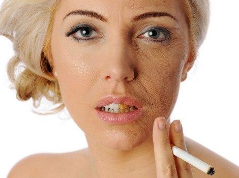 Курение старит женщин быстрее чем мужчин