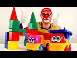 Смешные видео. Клоун Дима и грузовик: дом машинке. Видео для детей.