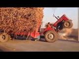 Трактор, машинки с сюрпризом. И остальные приколы на дорогах.