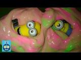 Лизун в бочках и Миньоны  Мультфильм для детей    Minions  and Farting Cup   Slime
