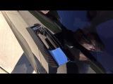 Applying Carbon-Fiber Wrap onto Tesla Model S door handles