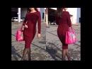 Бесплатный МК часть 5 платье Марсала обработка горловины