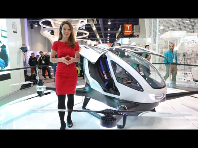 El gigantesco dron autónomo EHang te puede llevar al trabajo