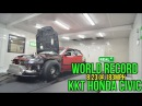KKT World Record - World's Quickest Sport Front Wheel Drive - Atco Dragway, NJ 2016