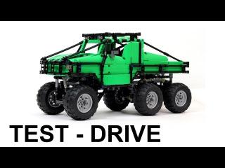 Lego Technic Off-Roader Dodge T-Rex 6x6 style test-drive/ Лего Техник Внедорожник тест-драйв