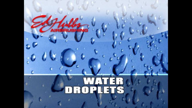 Airbrushing Water Droplets