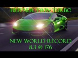 New Lamborghini DCT Huracan 1/4 Mile World Record. 8.3 @ 176 MPH