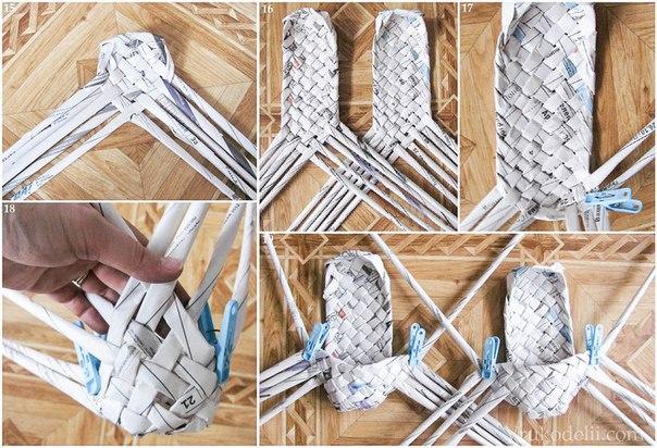 Поделки своими руками из газетных трубочек для начинающих