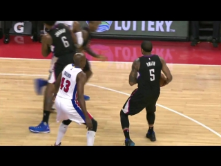 Deandre jordan slams home the reverse alley-oop