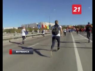 10 000 бегунов и один корреспондент. Забег по мосту через Кольский залив на фестивале