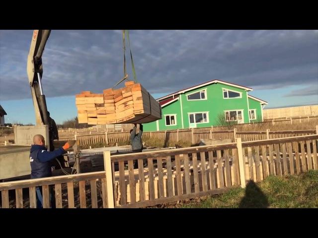 3.1. Строительство каркасного дома. 1-й день. Обработка пиломатериалов. Строй и живи.