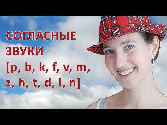 Согласные в английском языке. P, b, k, f, v, m, z, h, t, d, l, n - произносим их правильно