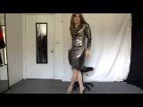 Crossdressing - Sexy gold dress