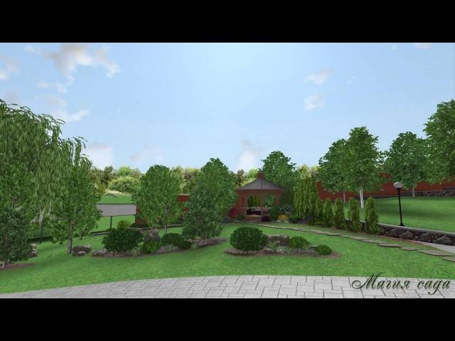 3D Визуализация проекта ландшафтного дизайна HD
