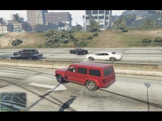 Как уйти от погони от полиции при помощи пробки на дороге =)