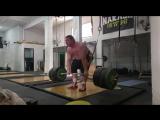 Влад Алхазов, становая тяга без экипировки - 413 кг на 2 раза!!!