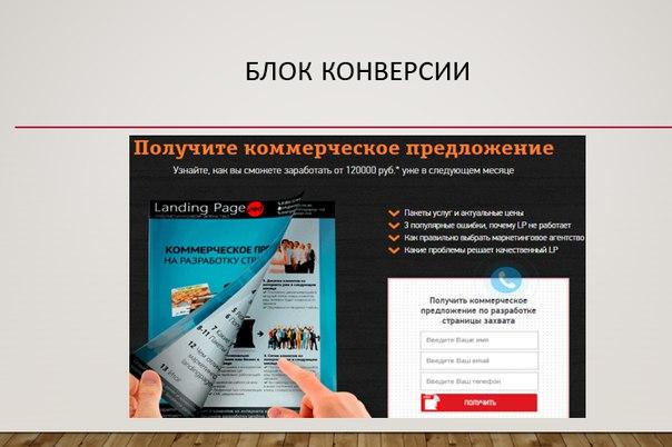 Копирайтинг Landing Page