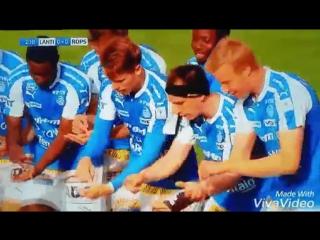 Футболисты финского РоПС отметили гол, изобразив игру в Pokemon GO