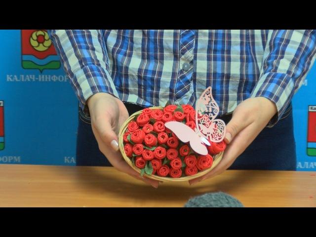 Поделки розы из салфеток