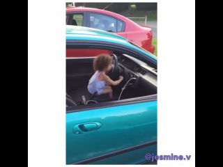 """@jesmine.v on Instagram: """"#tbt Crank That 🐌💪🏼😍🤗 ! My brothers daughter is definitely following in our footsteps when it comes to loving cars lol @keith8999…"""""""