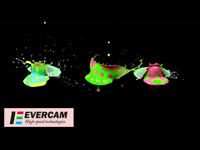 Water crown slow motion / Водяные короны / Высокоскоростная съемка камерой EVERCAM