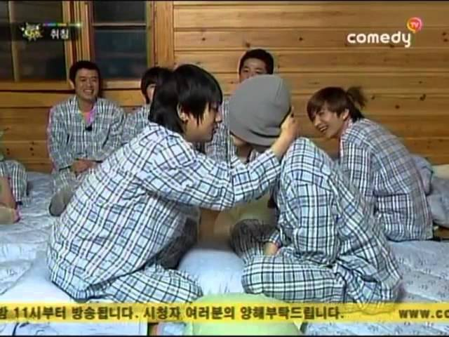 Yesung and Donghae Kissing scene @ Comedy TV Unbelievable Outing Season 3 Ep12