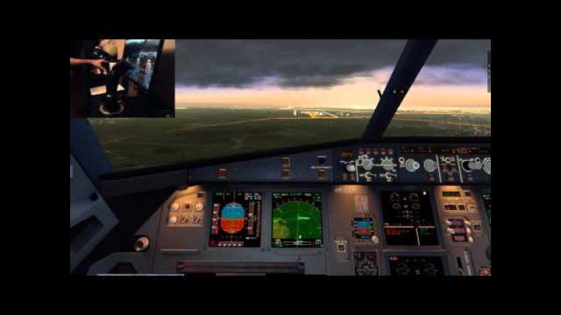 X-Plane 2016-04-23 A320 SU28 UUEE-ULLI Landing 28L