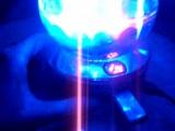 дискошар проектор работает от USB провода и от аккумулятора, флешка+радио