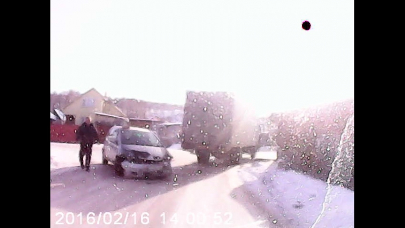д.Бугачёво такси в грузовик авария 16.02.2016