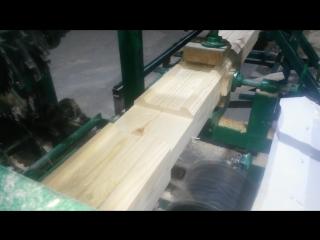 Нарезка чаш в профилированном брусе на нашем производстве