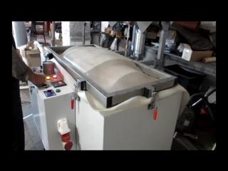 Изготовление филенчатых вогнутых МДФ фасадов в пленке ПВХ в термо вакуумном прессе