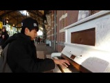 Yiruma's River flows in you &amp Pachelbel's Canon in D public piano cover @ station Nijmegen (NL)