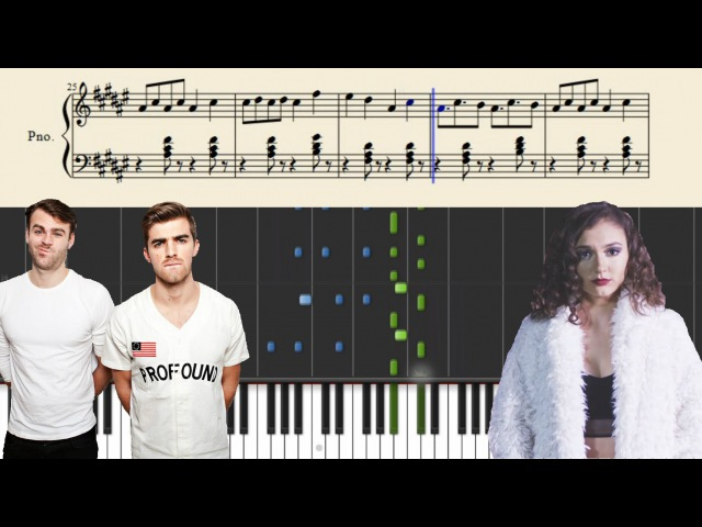 The Chainsmokers Daya - Don't Let Me Down - Piano Tutorial Sheets
