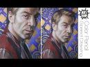 Как рисовать Портрет цветными карандашами / Javier Bardem Portrait Drawing