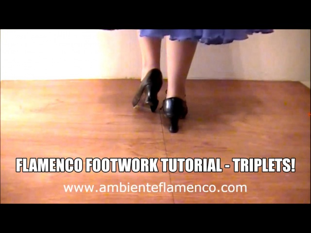 Flamenco Footwork Tutorial - Triplets - The most useful step in Flamenco!