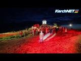 Керчь: репетиция театрализованного представления в финале факельного шествия