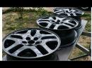 Покраска литых дисков в серый металлик - ( Painting alloy wheels in grey metallic )