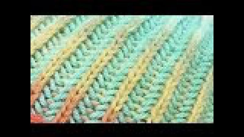 Двухцветная патентная резинка (резинка бриошь) по кругу