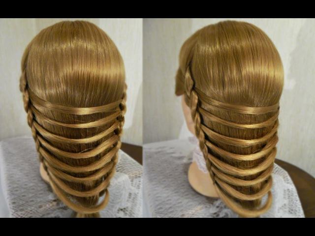 Плетение Мостик или Золотые кольца | Авторские причёски | Hairstyles by REM | Copyright ©