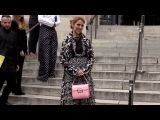 Celine Dion makes a rock n roll star entrance at 2016 Giambatistta Valli Haute Couture fashion show