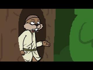 Белка и грибник(гоблинский перевод