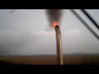 MTZ-82 exhaust fire