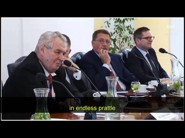 President Zeman of the Czech Republic speaks on Islam and mass immigration
