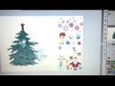 Как нарядить елку в Adobe Illustrator