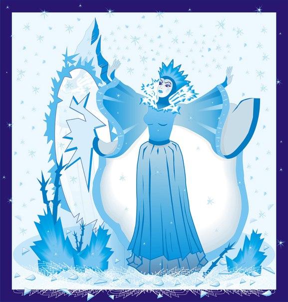 снежная картинки королева детские