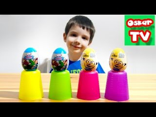 Миньоны и Мстители Марвел Распаковка яиц с сюрпризами surprise unboxing Minions, Marvel AVENGERS