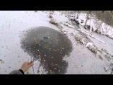 Первый лёд ловля ротана на летнюю удочку